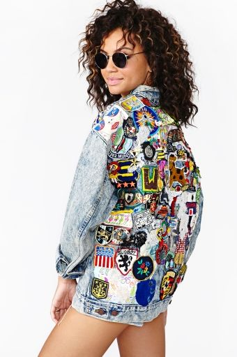 Large jackets with flower and color prints